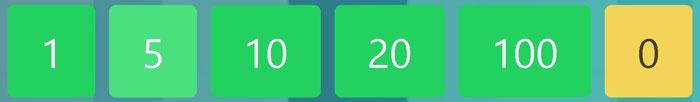 Acționați butoanele verzi