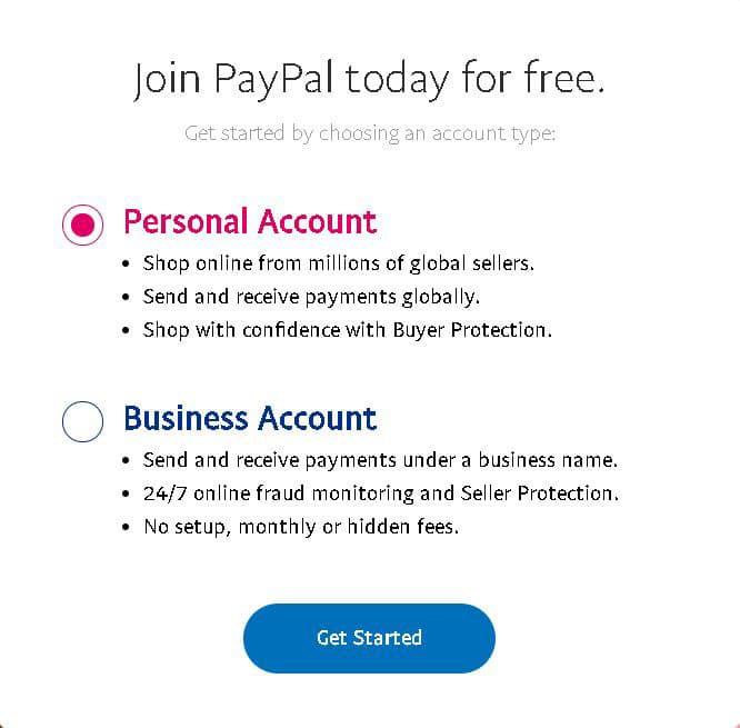 creare cont personal sau business