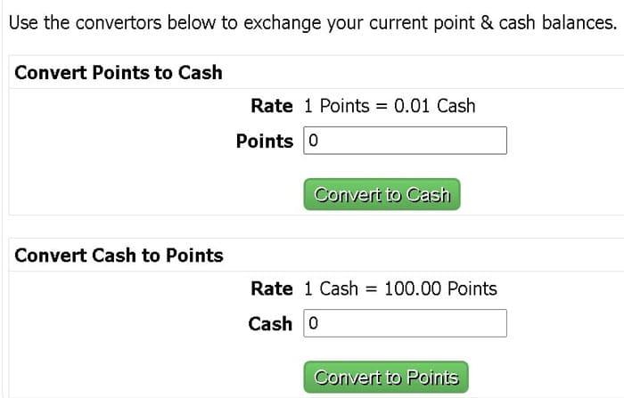 conversie puncte in bani