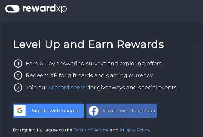 înscriere site RewardXP