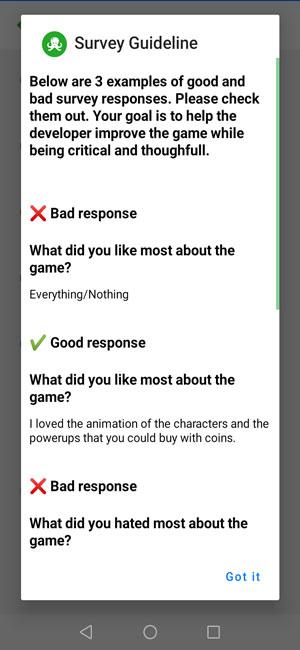 răspunsuri de calitate pentru sondaj