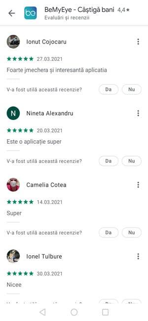 Google Play recenzii BeMyEye