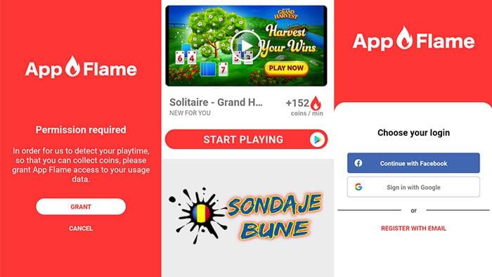 joaca jocuri cu App Flame