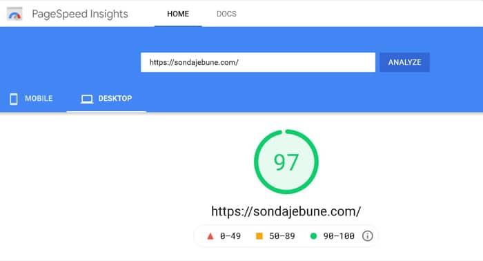 verificare viteza încărcare site