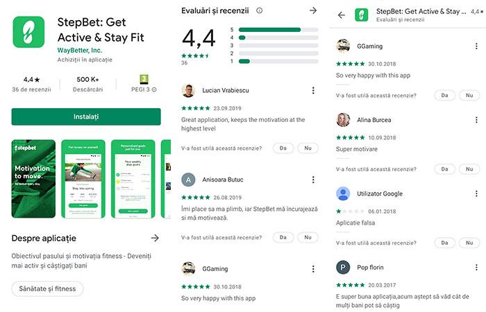 analize StepBet pe Google Play