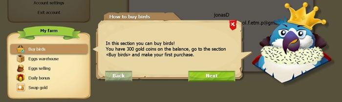 metoda de cumpărare pasari