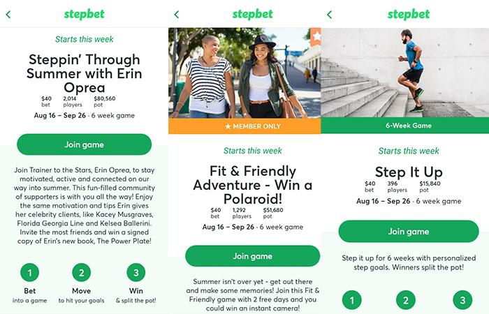 jocuri fitness StepBet
