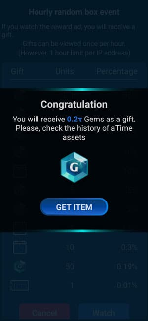 recompense în moneda TIME