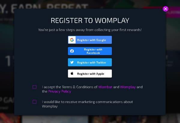 înregistrare Womplay