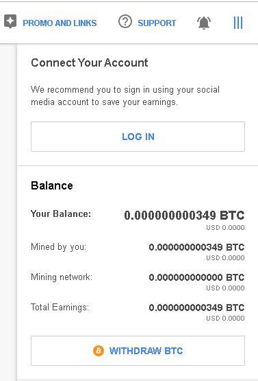 retragere bitcoin cu CryptoTab